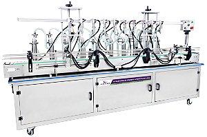 Envasadora de Líquidos Automática em Linha 10 Bicos 100 - 1000ml