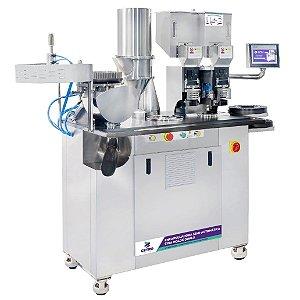 Encapsuladora Semi-Automática com Molde Duplo e Painel Digital