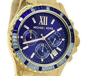 Michael Kors Mk5754 Dourado Azul