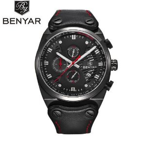 82a69018481 Relógio de Luxo Masculino Benyar Yakuza Preto - Omega importados