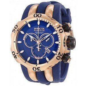 Relógio Invicta 10831 Venom Reserve Azul E Rose
