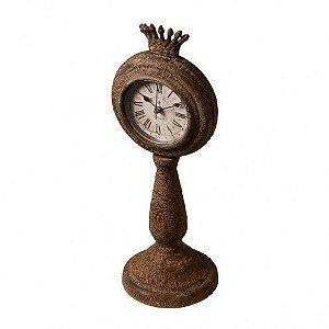 Relógio de Mesa Decorativo - 34x12cm - Coroa