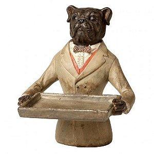 Estatueta - Cachorro - porta cartão/recados