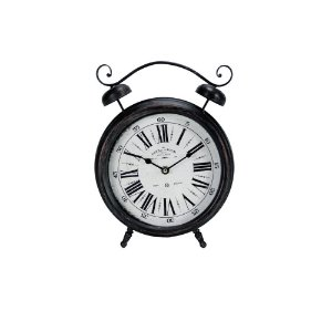 Relógio de Mesa Decorativo - Metal 24x30cm - Alarm Clock Paris