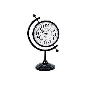 Relógio de Mesa Decorativo - Metal 20x34cm - Kensington Globe