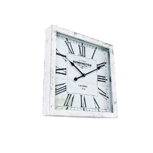 Relógio de Parede - MDF 40x40 - London White