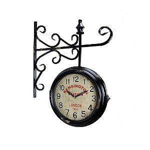Relógio de Parede Estação - Metal 41x50 - Kensington