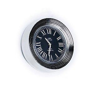 Relógio de Parede - Metal 32cm - Union Station Silver