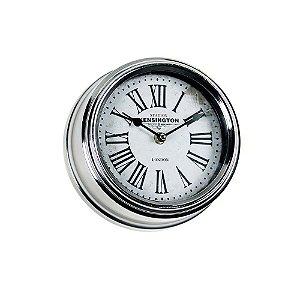 Relógio de Parede - Metal 20cm - London Silver