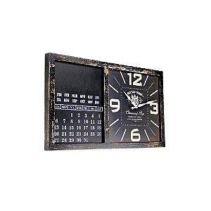 Relógio de Parede - MDF 56x32 - Calendar Chateau Renier