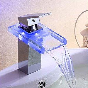 Misturador monocomando de vidro LX-001B LED