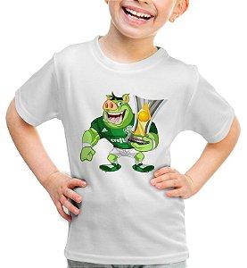 Camisa Palmeiras Mascote Porco - Infantil