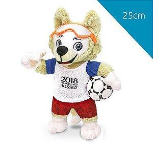 Mascote da Copa 2018 Pelúcia 25cm Zabivaka
