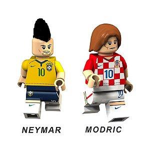 Bonecos de Futebol Neymar e Modric