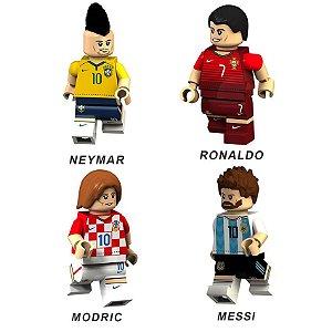 Bonecos de Futebol Neymar Cr7 Modric e Messi