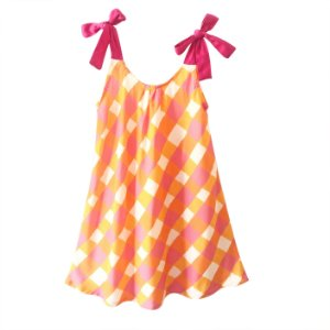 Vestido infantil alça piquenique na floresta