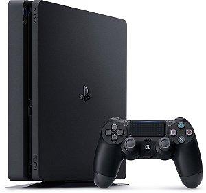 Console Oficial Sony Playstation 4 Slim 500GB, Controle Wireless e Fone de Ouvido