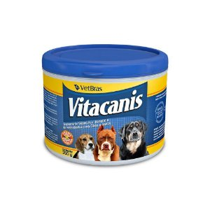 VITACANIS – Suplemento Vitamínico, Mineral E De Aminoácidos Para Cães E Gatos 250Gr