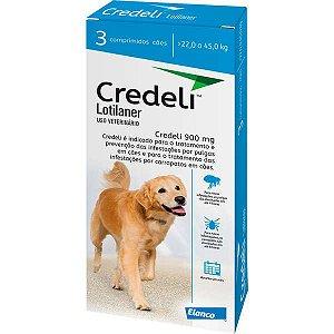 Antipulgas e Carrapatos Elanco Credeli 900 mg para Cães de 22 a 45 Kg
