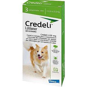 Antipulgas e Carrapatos Elanco Credeli 450 mg para Cães de 11 a 22kg