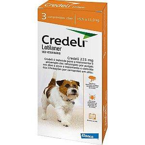 Antipulgas e Carrapatos Elanco Credeli 225 mg para Cães de 5,5 a 11kg