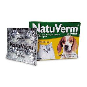 Vermífugo Natu Verm - Praziquantel - 4 Comprimidos