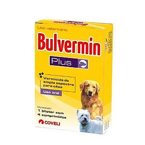 Vermífugo Coveli Bulvermin Plus 4 Comprimidos para Cães