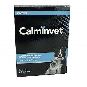Calmante Calminvet Para Cães E Gatos - Fitoterápico 20 Comprimidos