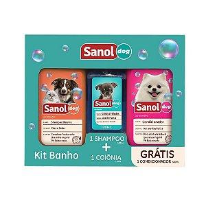 Kit Sanol Shampoo, Colônia e Condicionador 500ml