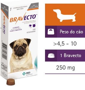 Antipulgas e Carrapatos Bravecto  4,5 a 10kg
