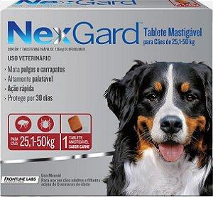 Antipulgas e Carrapatos NexGard 25 a 50Kg