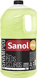 Shampoo Pelos Escuros Sanol Dog 5L