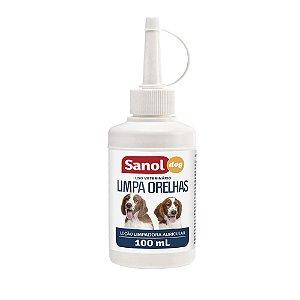 Limpa Orelha Loção Limpadora Auricular Sanol Dog 100 mL