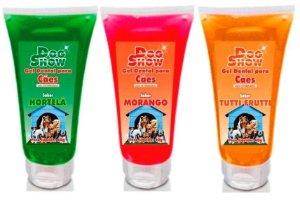 Gel Dental Dog Show 60gr - Morango Tuti-Fruti Hortelã