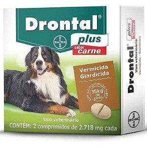 Vermífugo Bayer Drontal Plus Sabor Carne - Cães 35 Kg