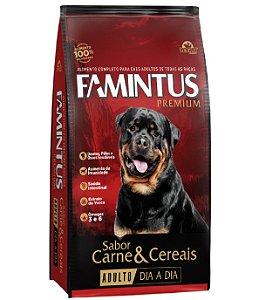 Ração Famintus Premium Dia a Dia Carne e Cereais Sem Corantes Artificiais