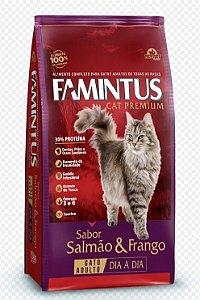 Ração para Gatos Famintus Premium Dia a Dia Salmão e Frango 15KG