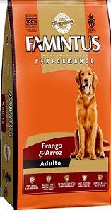 Ração Famintus Premium Performance Adultos Frango e Arroz Sem Corantes Artificiais