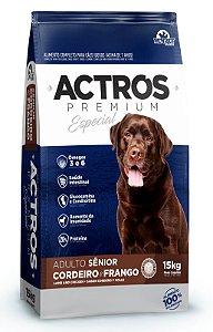 Ração Premium Especial Actros Sênior Cordeiro e Frango 15kg