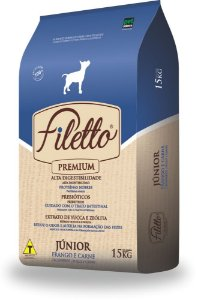 Ração Premium Filetto Filhote Raças Grandes Frango e Carne 15KG