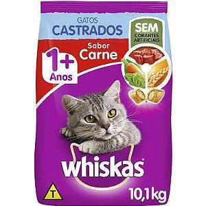 Ração Whiskas Carne para Gatos Adultos Castrados Carne