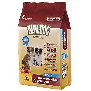 Ração Papa Dog Gourmet Raças Médias e Grandes Filhotes