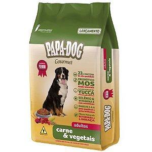 Ração Papa Dog Gourmet Carne e Vegetais Adultos