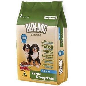 Ração Papa Dog Gourmet Carne e Vegetais Filhotes