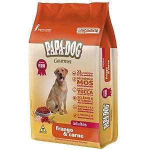Raçaõ Papa Dog Gourmet Frango e Carne Adultos