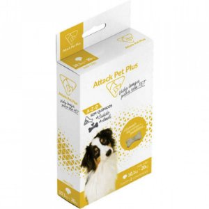 Attack Pet Plus Caes 10 Ate 20Kg Para Cachorros E Gatos suplemento ( Antipulgas E Carrapatos)
