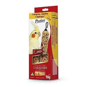 Alimento Bastão Para Calopsita Prefere Caixa 90g C/2 UN - Acompanha um Balanço de Brinde
