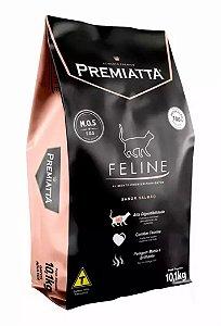 Ração Premiatta Feline Salmão e Arroz Premium Gatos Adultos 10,1kg