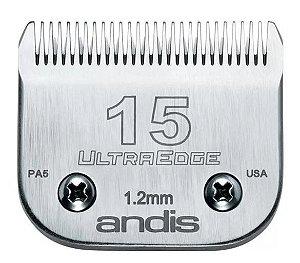 Lamina Andis Ultraedge Modelo 15 1.2mm Banho e Tosa