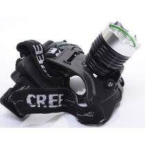 Lanterna Cabeça T6 Led Cree Tatica C/ Zoom Telescópico Gb700
